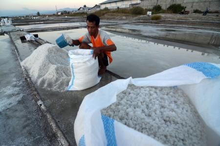 Penuhi Kebutuhan Bansos Tahap 3, Agro Jabar Serap Potensi Garam Petani Lokal